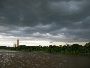 Thunderstorm on Arkansas River, Tulsa