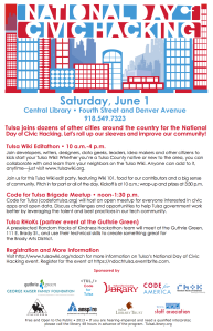 National Day of Civic Hacking flyer