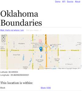 OK Boundary Service