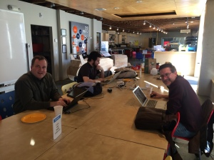 Scott Philips, Patrick Forringer, and John Dungan get started as OpenStreetMap mappers